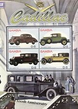 GAMBIA CADILLAC STAMPS SHEET 2003 MNH 100TH ANNIVERSARY CONVERTIBLE AUTOMOBILE