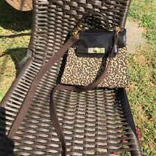 NINE WEST LEOPARD PRINT MATERIAL SMALL CROSSBODY BAG PURSE NWT RET: $78