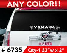 "YAMAHA w/ LOGO - Factory Racing R6 R1 LARGE DECAL STICKER 23""w x 2"" ANY 1 COLOR"