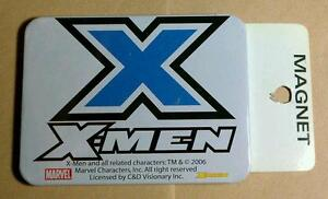 NEW W/DEFECTS As Is X-MEN X MEN XMEN LOGO BLUE X BLACK WHITE MARVEL AS IS MAGNET
