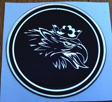 "2.5"" SAAB Black Griffin Head Hood or Trunk Emblem sonett 96 93 9-3 95 9-5 9-2X"