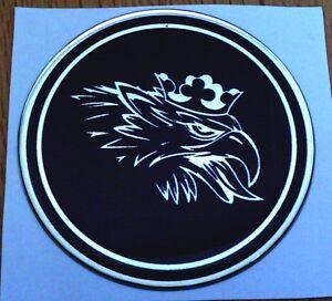 "2.5"" SAAB Black Griffin Head Hood or Trunk Emblem sonett 96 93 9-3 95 9-5 9-2X"