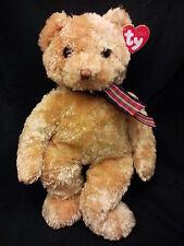 Bojangles Ty Classic Tan Golden Teddy Bear Stuffed Animal  Lovey Plush 2002 New