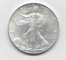 1999 - 1 oz American Silver Eagle Coin - One Troy oz .999 Bullion