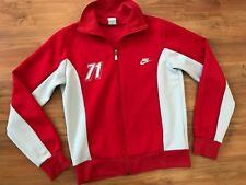Para Hombre Nike Athletic Rojo Retro Vintage 1971 Chaqueta Chándal Superior (m) * Excelente Estado *