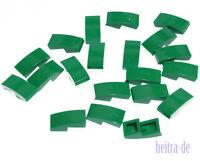 LEGO - 20 x Schrägstein gerundet 2x1 grün / Dachstein gebogen / 11477 NEUWARE