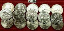 2016 PDS National Park Quarters - 15 Quarters set US Mint **IN HAND**