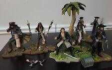 NECA Pirates of the Caribbean PotC Dead Man's Chest Island Set of 7 Figures