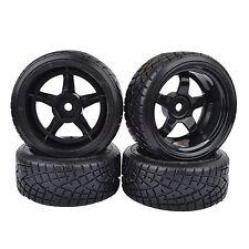 9mm Offset RC 1:10 On-Road Drift Car Hard Tyre Tires & Wheel Rim Black 8030-6013