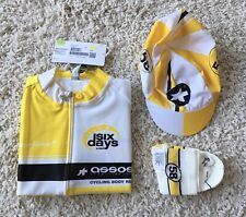 "Assos Six Days Pack 33"" Jersey (XS) Cap (Medium) & Socks (2.5) Yellow Ref:NoBox"