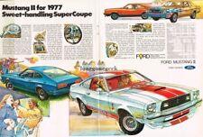 1977 Ford Mustang II Cobra II art Centerfold 1976 Vtg Print Ad
