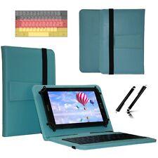 """Tastatur Case Hülle für Samsung Galaxy Tab 2 P5110 Tablet Keyboard 10.1"""" Türkis"""