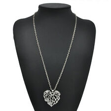 Fashion Women Gold Plated Heart Long Chain Pendant Sweater Necklace Jewelry