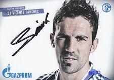 Vicente SANCHEZ + FC Schalke 04 + Saison 2009/2010 + Autogrammkarte +