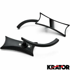 Black Twisted Mirrors + Bolts For Honda VTX 1800 TYPE C R S N F T RETRO