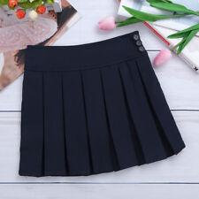 Girls JK Pleated Mini Skirt Uniform School Kids Sports Scooter Skirt Side Zipper