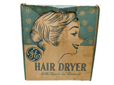 GE Model HD4 Vintage Hair Dryer With Bonnet Cap Tested In Original Box