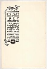Mysteries Of 1928 Program Ade Duval, Axel Hellstrom, Tarbell S.A.M Chicago