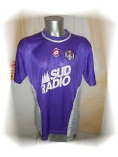 C - Ancien Maillot TFC Toulouse Football Club Violet Blanc Lotto Sud Radio T XL