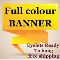 PVC VINYL BANNERS PRINTED OUTDOOR ADVERTISING SIGN DISPLAY STRONG 510gsm BANNER