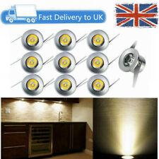 10 x 1w LED Recessed Small Cabinet Mini Spot Lamp Ceiling Downlight Kit Fixture