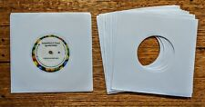 "50 x NEW WHITE PAPER VINYL RECORD SLEEVES FOR SINGLES EP 45'S OR 7"" VINYL 20lb"