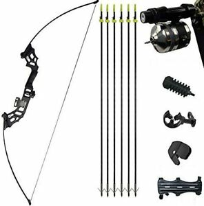 40lbs Archery Takedown Recurve Bow Bowfishing Bow and Arrow Set - Right Handed