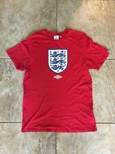 England Umbro Soccer Shirt Sz L- Red