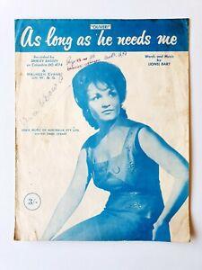As Long As He Needs Me, Shirley Bassey, Sheet Music