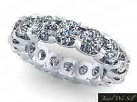 2.30Ct Round Diamond Shared U-Prong Eternity Wedding Band Ring 10k Gold H I1
