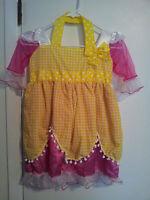 Girls-Size-Medium-La-La-Loopsy-Costume-and-Wig-Dress-Multi-Colors-Pretend-Play