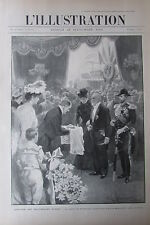 SOUVERAINS RUSSES EMPEREUR NICOLAS II VISITE EN FRANCE L'ILLUSTRATION de 1901