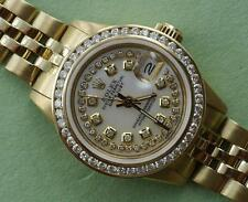 Ladies Rolex Datejust 18K Gold reference  6517 Diamond Dial Bezel