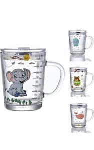 Plastic Cup 400ml Children's Elephant Travel Cold Drinks Heat Resistant