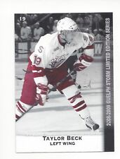 2008-09 Guelph Storm (OHL) Taylor Beck (Kunlun Red Star)