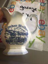 Ceramic Blue on White London Bridge Lake Havasu Pitcher or Creamer British