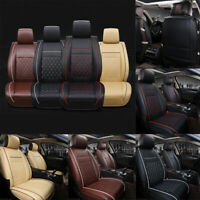 Universal Car Seat Cushion Car Front Seat Luxury PU Leather Covers Support Pad