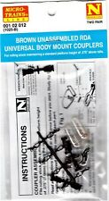 N Scale Micro Trains 1 02 012 Brown Magne-Matic Coupler w/Body Mount Draft Gear