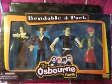 OSBOURNE FAMILY 4 PACK BENDABLE FIGURES FUN4ALL 2002 TOY OZZY JACK SHARON KELLY