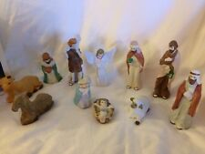 11pc Ceramic Nativity Set