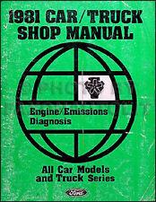1981 Ford Engine Diagnosis Manual Lincoln Mercury Diagnostic Trouble Codes Shop