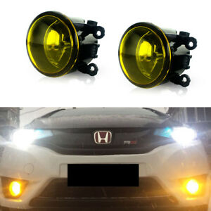 For Acura Honda Ford Nissan Golden Yellow w/ H11 Bulbs Fog Lights Replacement