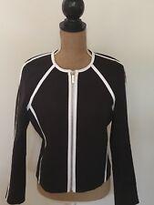 Michael Kors Black & White A- Line Jacket, Size 8, NWTS