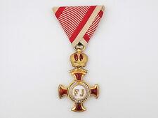 New listing Original Wwi Austrian Imperial Gold Merit Cross & Crown w/ War Ribbon in Case