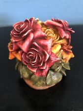 "Le Harmony Kingdom Garden ""Rose Party"" Flower Box Figurine Hglelr2 w/ Box.~"