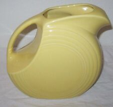New Fiesta Fiestaware Yellow Disc Pitcher 64 oz 1987 Homer Laughlin USA