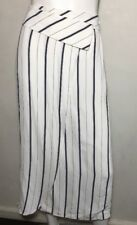 SABA blue stripe wrap look skirt ~ Sz 8