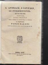Luigi Metaxa L'antrace i contagi le intermittenti lettere... Roma 1837