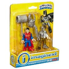 Fisher Price Imaginext Dc Super Amigos-Superman & Metalo-totalmente Nuevo