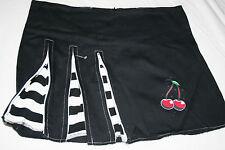 Darkside Mini Skirt Cherry & Zips - New - Medium